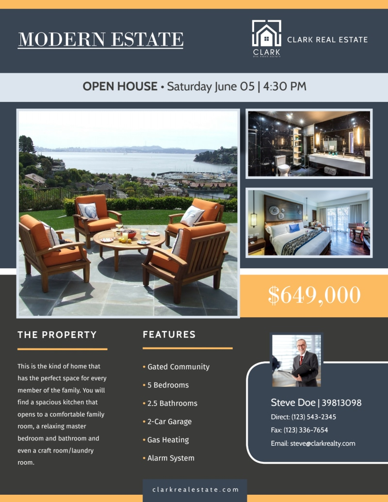 Pyramid Valley Real Estate Open House Flyer Template Preview 3