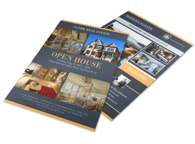 Pyramid Valley Real Estate Open House Flyer Template Preview 1