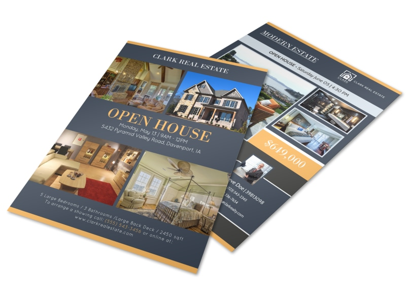 Pyramid Valley Real Estate Open House Flyer Template | MyCreativeShop