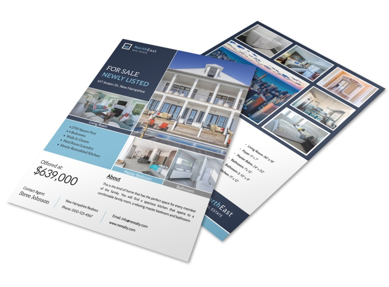 North East Real Estate Just Listed Flyer Template