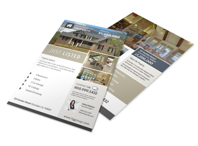 Real Estate Group Just Listed Flyer Template MyCreativeShop - Just listed flyer template
