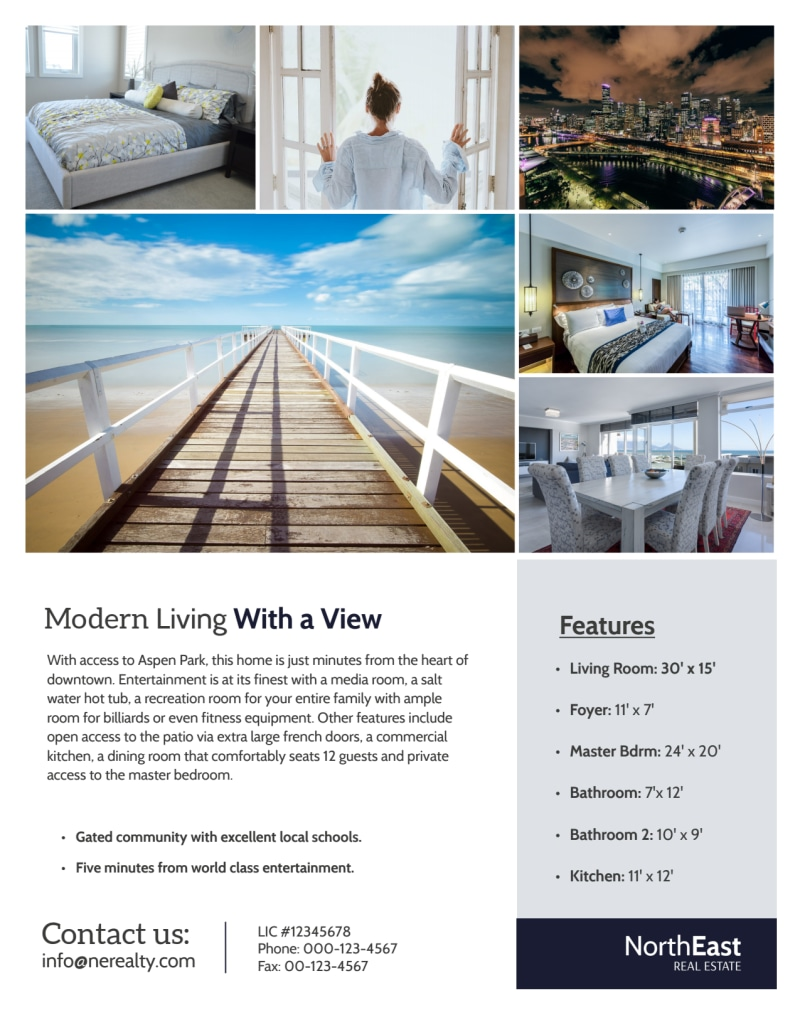 Modern Real Estate Price Reduced Flyer Template Preview 3