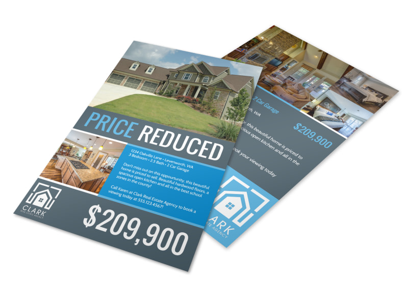 Real Estate Price Reduced Flyer Template