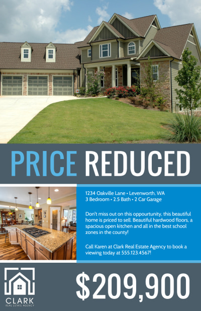 Real Estate Price Reduced Flyer Template Preview 1