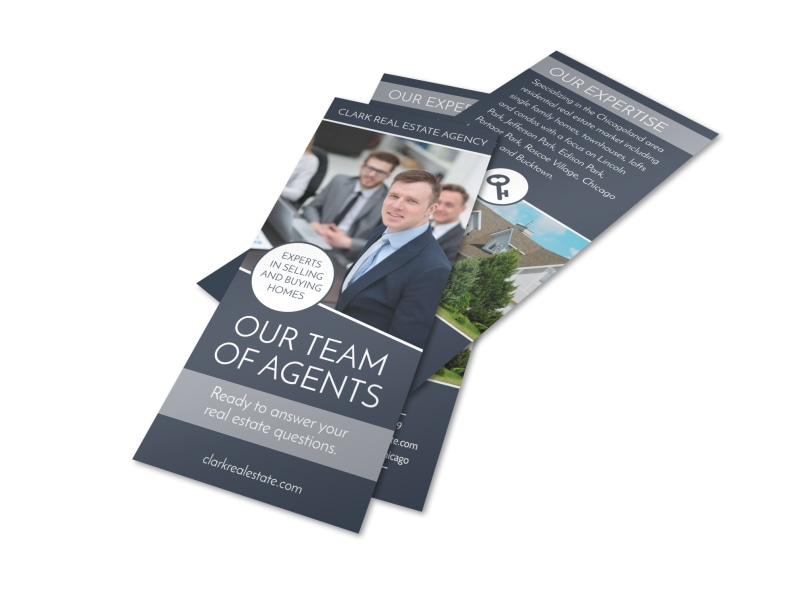Our Team Of Agents Real Estate Flyer Template