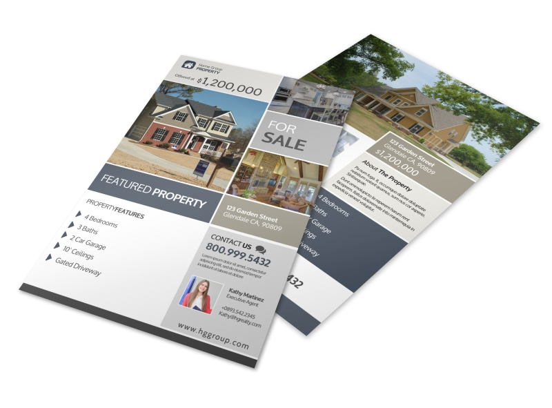 Real Estate Featured Property Flyer Template Mycreativeshop
