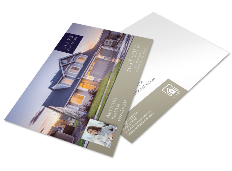 Clark Real Estate Just Sold Postcard Template Preview 1