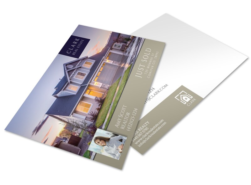 Clark Real Estate Just Sold Postcard Template Mycreativeshop
