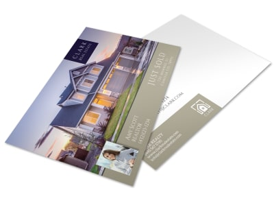 Clark Real Estate Just Sold Postcard Template preview