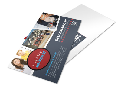 Sell Smarter Real Estate Postcard Template preview