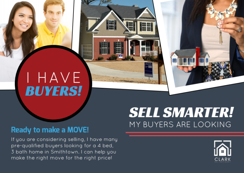 Sell Smarter Real Estate Postcard Template Preview 2