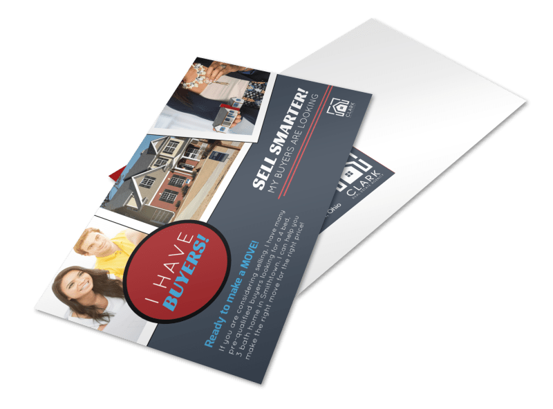 Sell Smarter Real Estate Postcard Template Preview 1