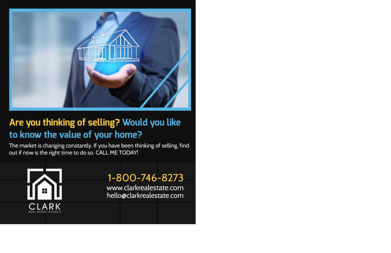 Real Estate Considering Selling Postcard Template Preview 3