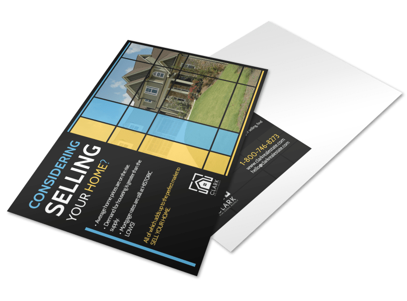 Real Estate Considering Selling Postcard Template Preview 1