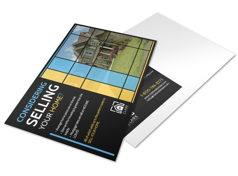 Real Estate Considering Selling Postcard Template