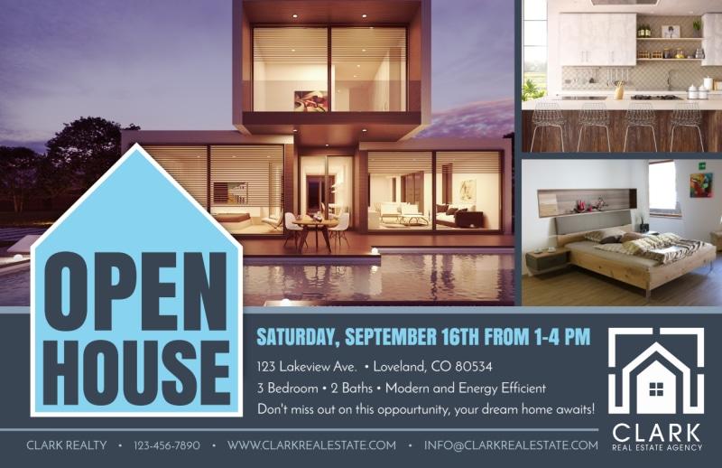 Loveland Open House Postcard Template Preview 2