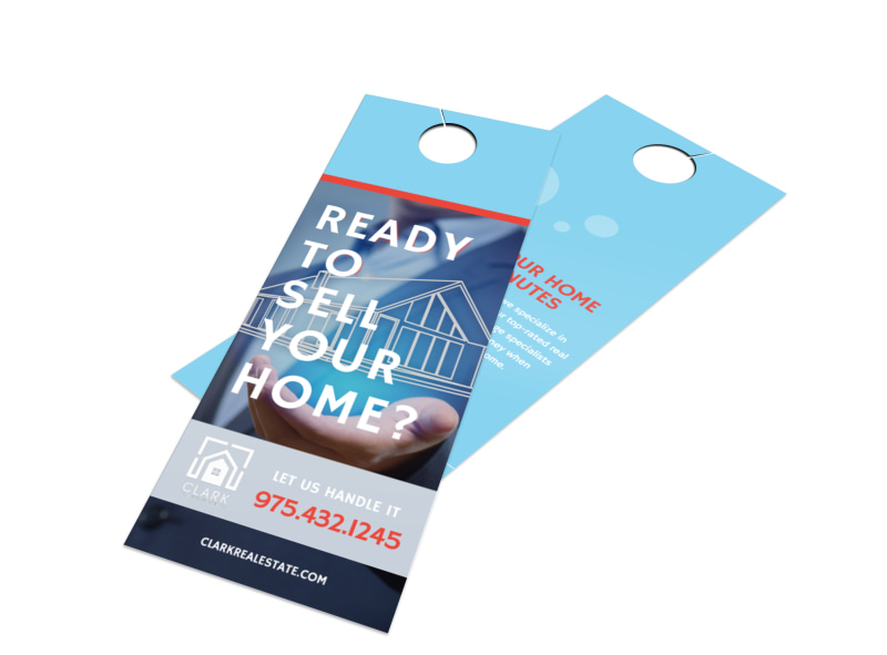 Ready To Sell Your Home Door Hanger Template MyCreativeShop - Real estate door hanger templates