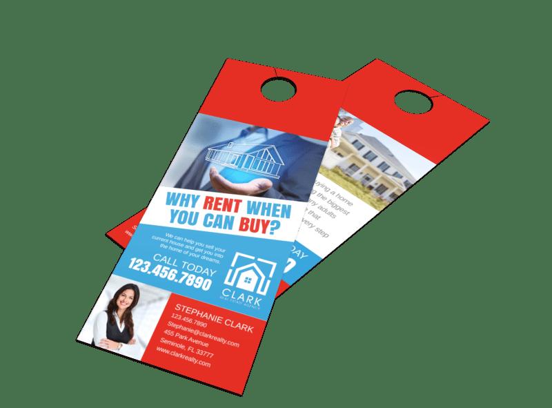 Buy VS Rent Door Hanger Template Preview 1