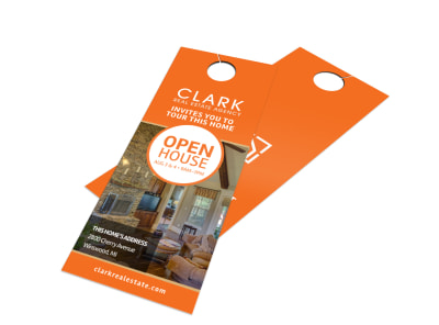 Clark Open House Door Hanger Template preview