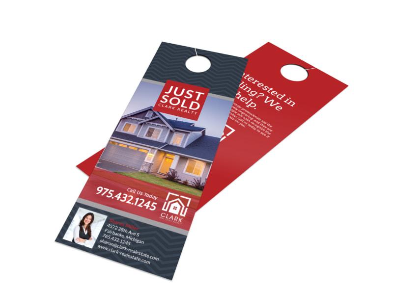 real estate door hanger templates. Real Estate Just Sold Door Hanger Template Templates