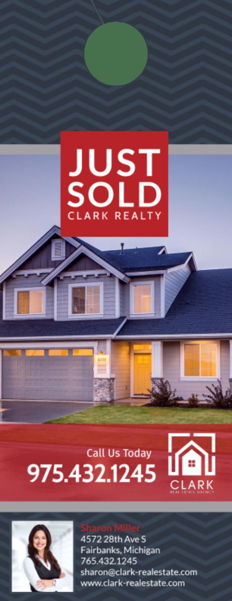 Real Estate Just Sold Door Hanger Template Preview 2