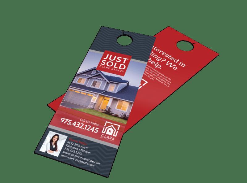Real Estate Just Sold Door Hanger Template Preview 1