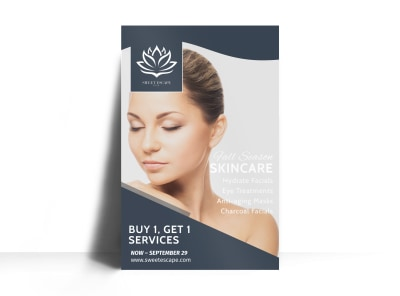Spa Skincare Services Poster Template preview