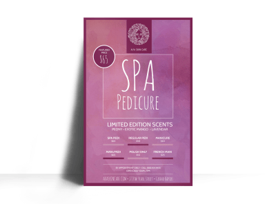 Spa Pedicure Poster Template Preview 1