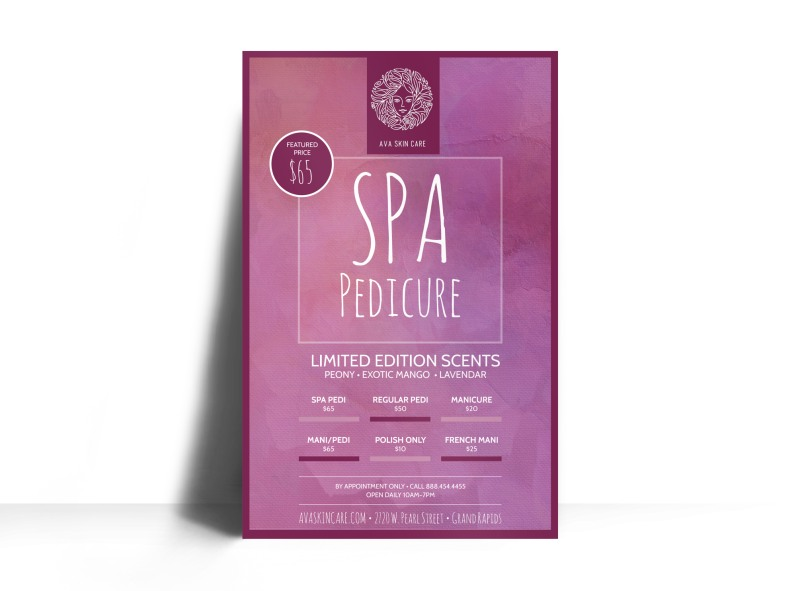 Spa Pedicure Poster Template Preview 3