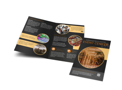 Springfield Hotel Event Center Bi-Fold Brochure Template preview