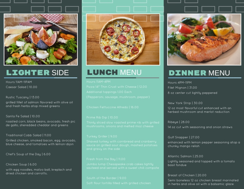 Hotel Room Service Tri-Fold Brochure Template Preview 3