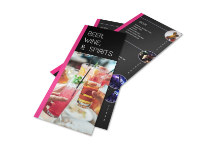 Simple Restaurant Drink List Flyer Template