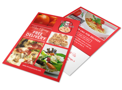 Pizza Restaurant Delivery Service Flyer Template preview
