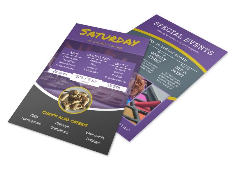 Cindys Restaurant Specials Flyer Template
