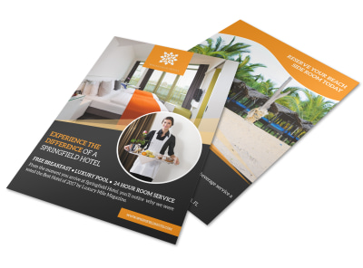 Luxury Hotel Amenities Flyer Template preview