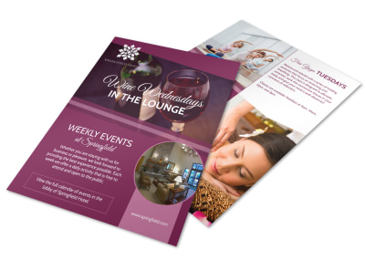 Wine Wednesdays Hotel Flyer Template preview