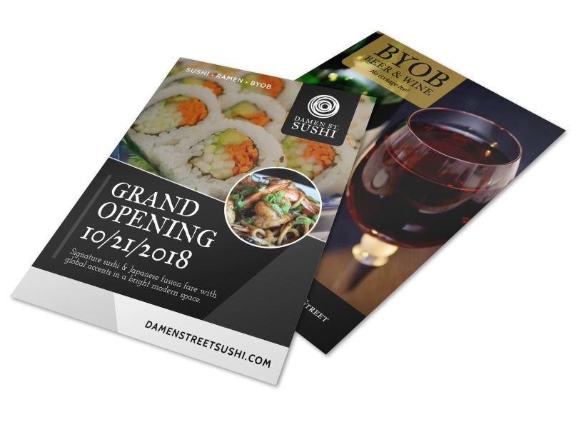 Grand Opening Restaurant Flyer Template  Mycreativeshop