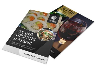 Grand Opening Restaurant Flyer Template preview
