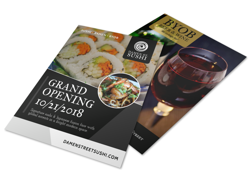 Grand Opening Restaurant Flyer Template Preview 1