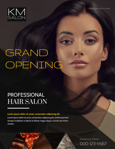 Professional Hair Salon Grand Opening Flyer Template Preview 1