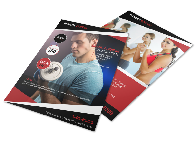 Gym Grand Opening Flyer Template Preview 4