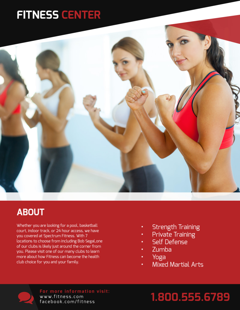 Gym Grand Opening Flyer Template Preview 3