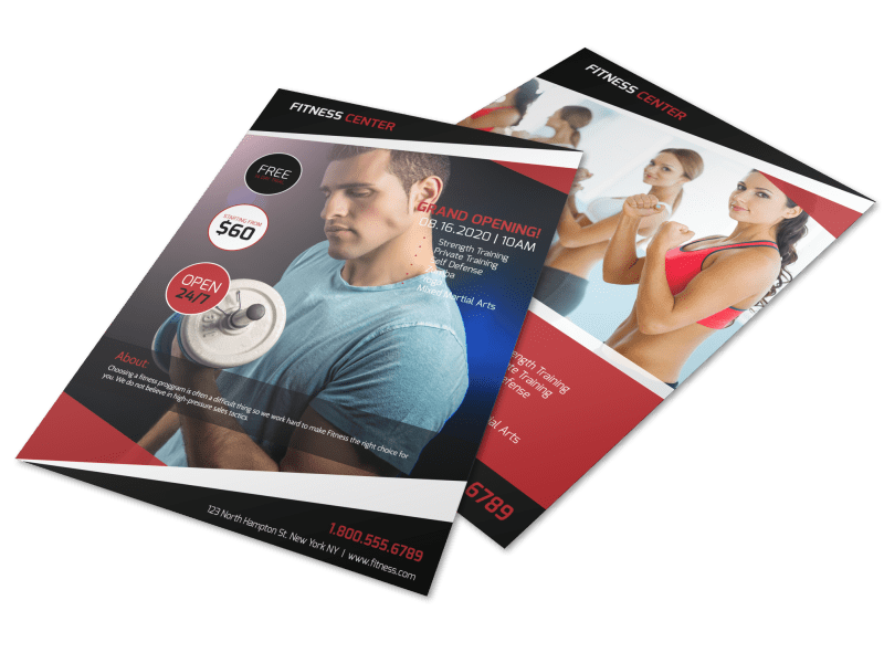 Gym Grand Opening Flyer Template Preview 1