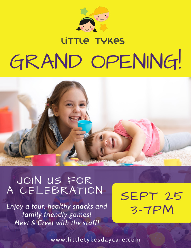 Daycare Grand Opening Flyer Template Preview 2