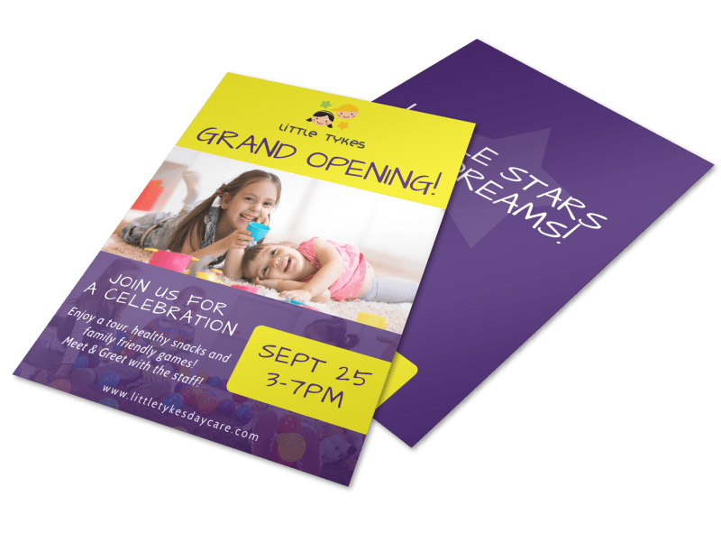 Daycare Grand Opening Flyer Template Preview 1