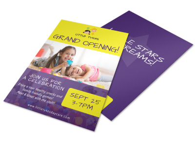 Daycare Grand Opening Flyer Template preview