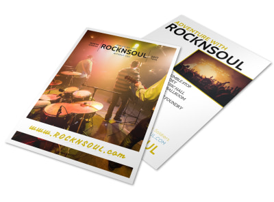 Band Tour Dates Flyer Template