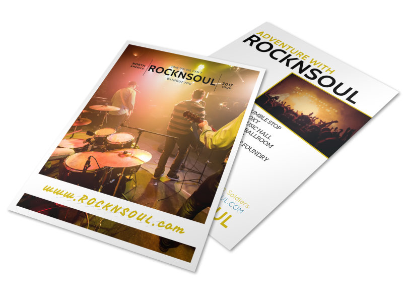 Band Tour Dates Flyer Template Preview 1