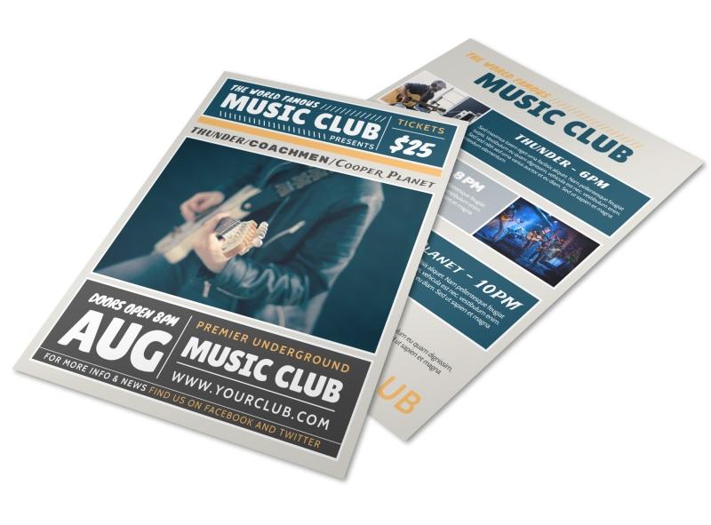 Underground Music Club Flyer Template