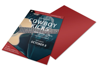 Cowboy Kicks Country Music Flyer Template